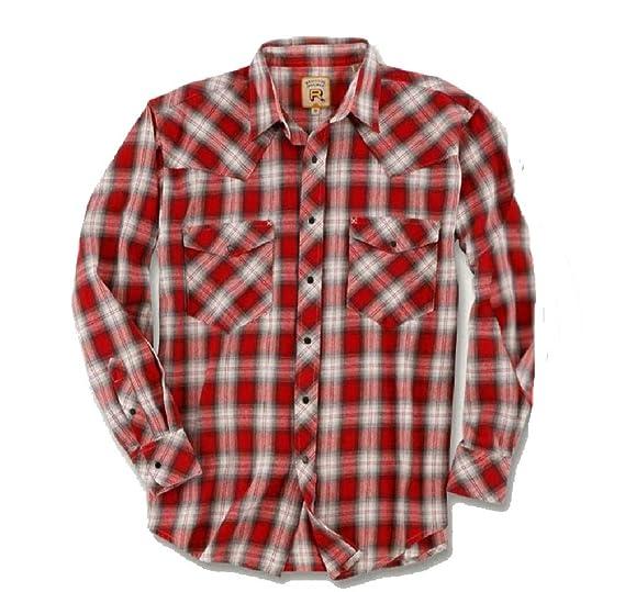 1ba0fa01 Resistol Men's Freedom Plaid Snap-Close Western Shirt at Amazon ...