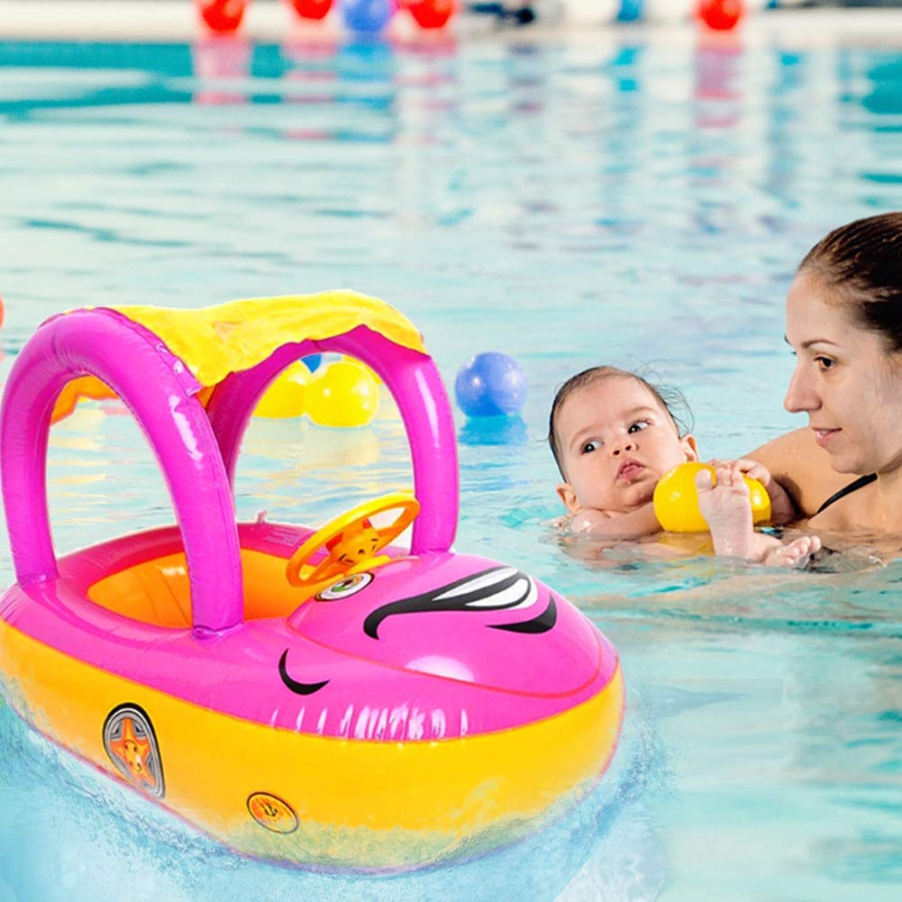 Lhh Baby Pool Float Swimming Water Car Floats Canopy Sunshade for Child June-36 Months,B by Lhh (Image #7)