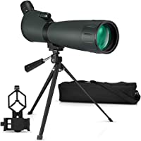 Telescopio Terrestre 20-60X 80 HD Spotting Scope con trípode y Bolsa de Transporte Bolsa de Transporte para Tiro al…