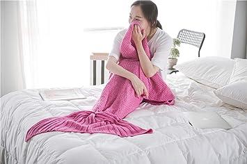 W&ZCH Manta de Cola de Sirena Saco de Dormir Tejido Saco de Dormir de Cuatro Estaciones