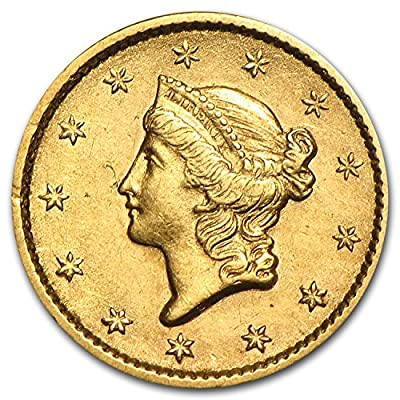 1849 - 1854 $1 Liberty Head Gold Type 1 XF (Random Year) G$1 Extremely Fine