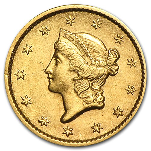 1849-1854 $1 Liberty Head Gold Type 1 XF (Random Year) G$1 Extremely Fine