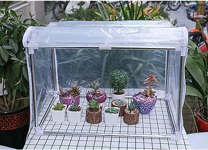 Invernaderos Jardin Balcón PVC Transparente Almacenamiento Puerta Enrollable con Cremallera Protección contra Nieve Soporte Acero Inoxidable, 9 Tamaños ,Personalizable BAI Yin: Amazon.es: Hogar