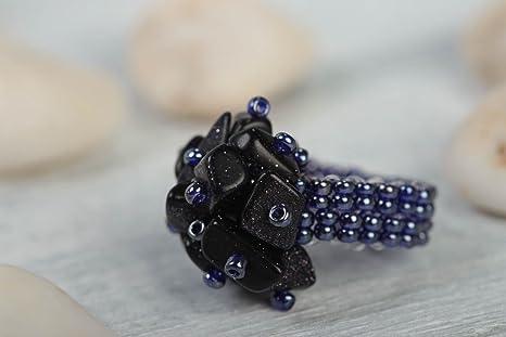 2395acc68c45 Anillo hecho a mano de abalorios regalo original bisuteria artesanal para  mujer