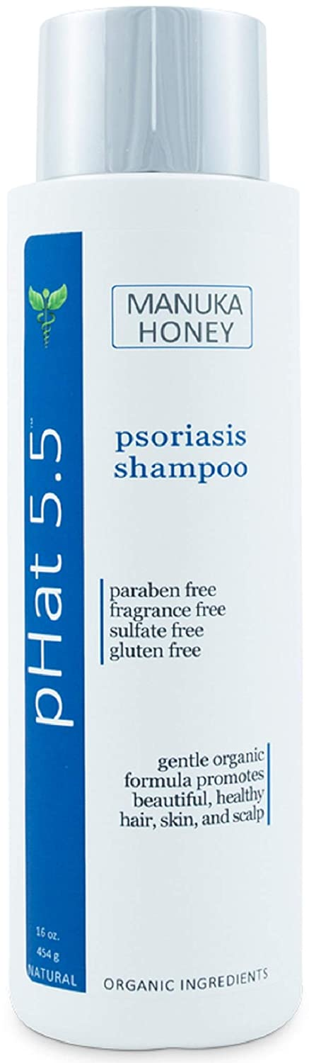 Shampoo for Psoriasis Relief - Anti Dandruff Shampoo and Dry and Itchy Scalp Treatment - Organic and Natural Formula with Manuka Honey and Aloe Vera - Gentle for Sensitive Skin (16 oz)
