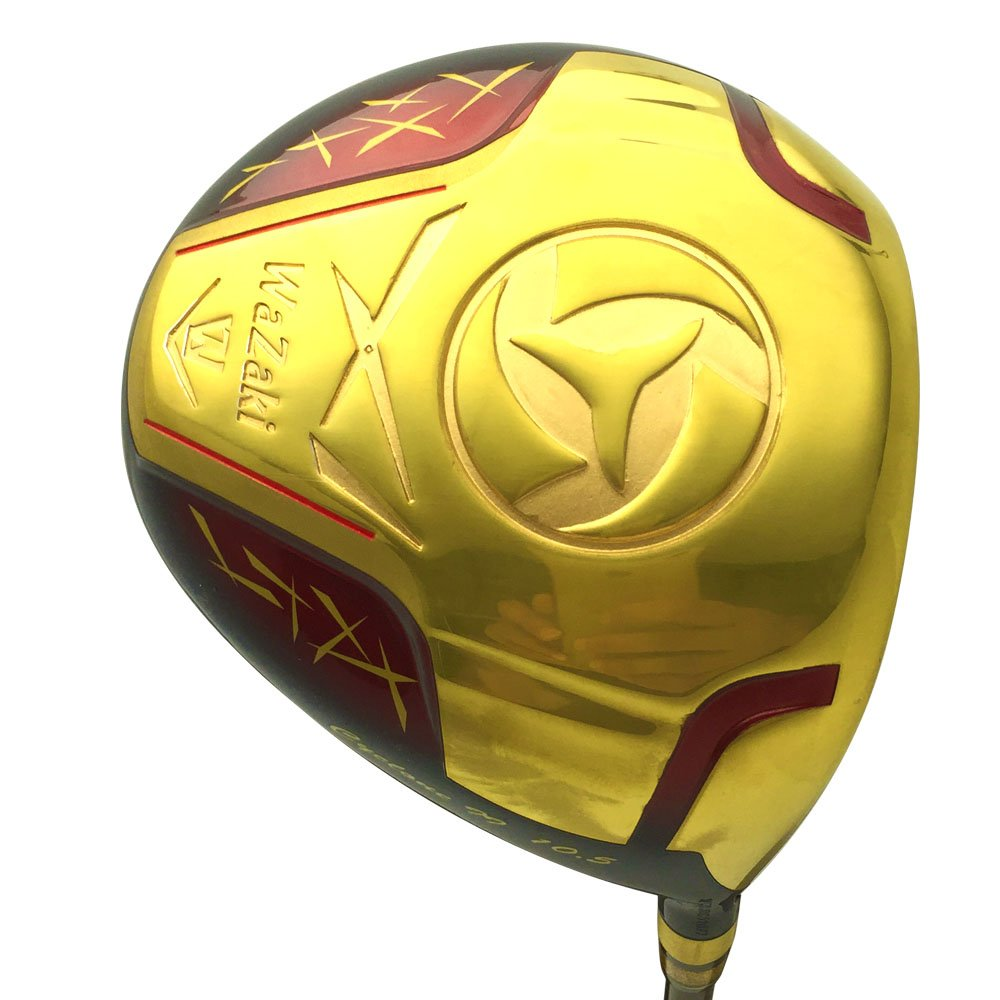 wazaki Japan Gold Finish Cyclone II Driver Golf Club+Headcover(10.5 Degree Loft,Close Face Angle,Right Handed,Pro Regular Flex,260 CPM) by wazaki (Image #4)