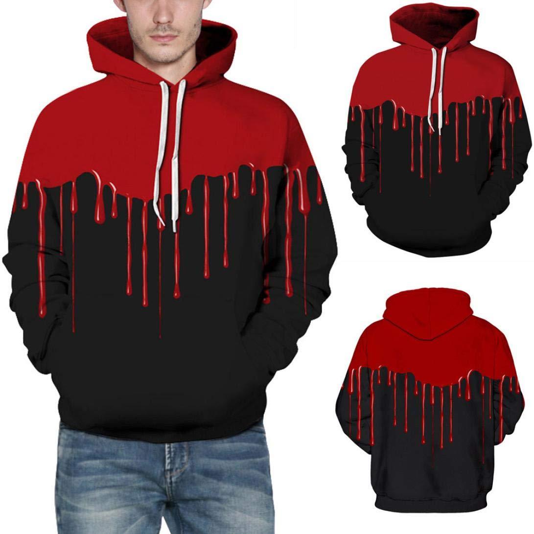Men's Jackets & Coats, Sweatshirts for Men Hoodie, Loves' Casual Autumn Winter 3D Printing Long Sleeve Hoodies Sweatshirt Blouse (Black, 2XL/3XL) by SamMoSon (Image #4)