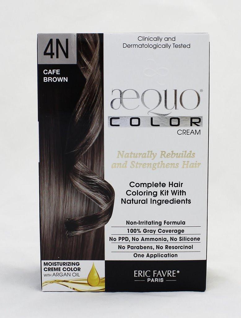Aequo Color Cream Kit 4N Cafe Brown