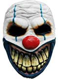Halloween carnaval costume de fête demi-masque de clown latex d'horreur pour adultes