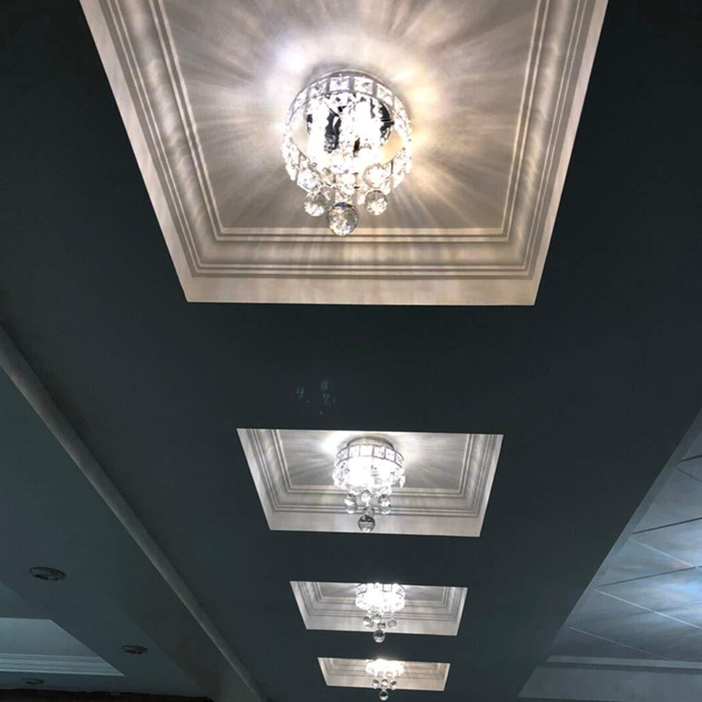 SUA ONG Kristallleuchter Pendentlicht für Flur, Schlafzimmer, Schlafzimmer, Schlafzimmer, Küche, Kinderzimmer, Glühbirne enthalten 9W Mini Style 3-Light Chrom-Finish [Energieklasse A +] (Farbe   5700K cool Weiß) 566465