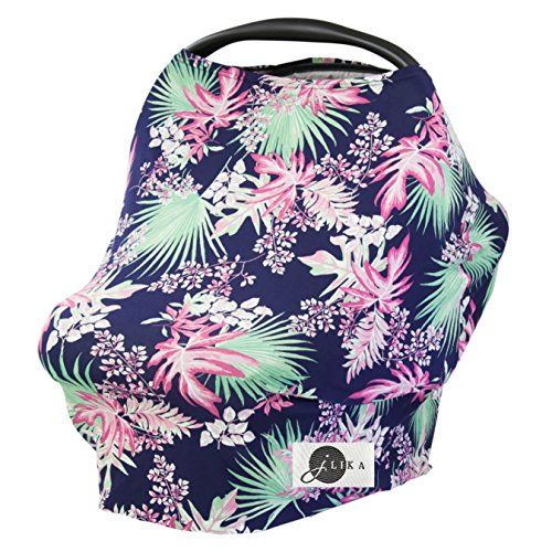 Baby Car Seat Canopy Cover With Drawstring Bag And Clips