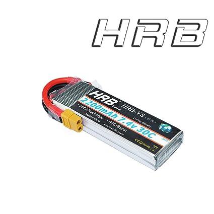Hrb 2200mah 7 4v 30c 2s Lipo Bateria Para Hubsan H501s Quadcopter