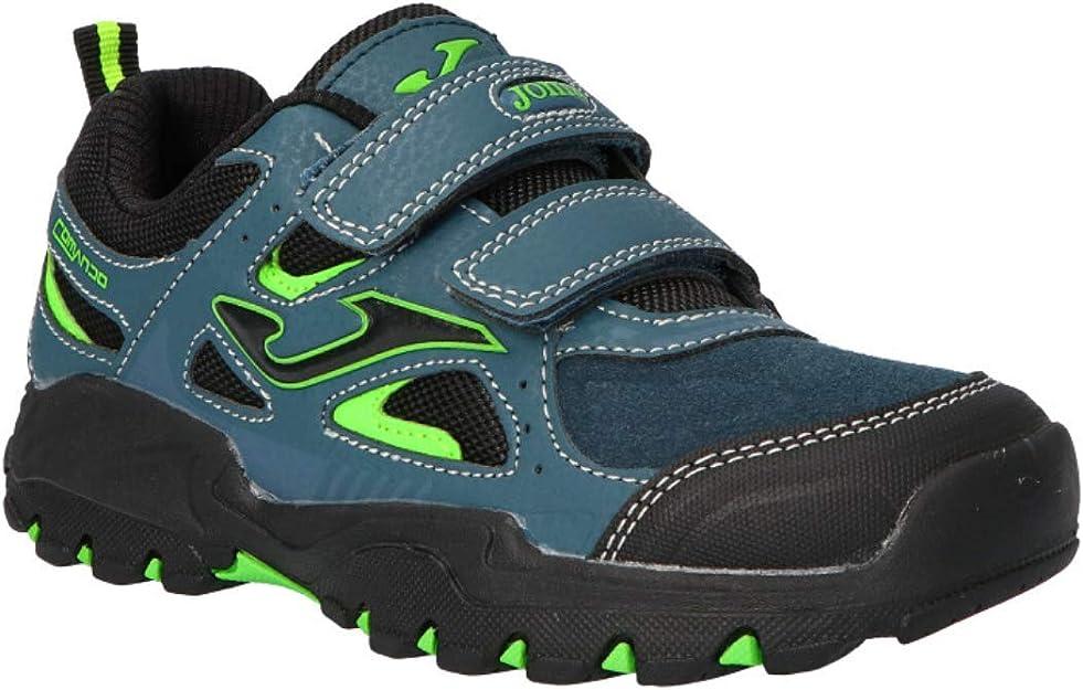 Joma Jcomando 915 Negro Verde Deportivo Tipo MONTAÑA Velcro Niño: Amazon.es: Zapatos y complementos