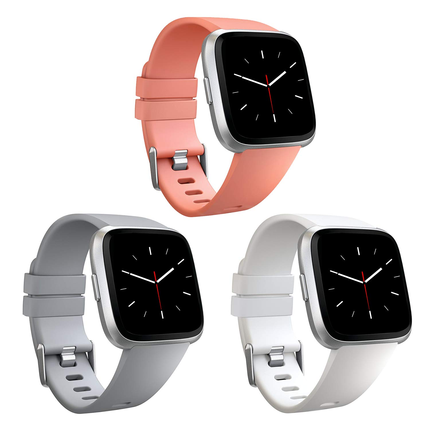 AK Compatible for Fitbit Versa/Fitbit Versa 2/Versa Lite Strap, Adjustable Replacement Sport Wristband for Fitbit Versa/Fitbit Versa 2/Fitbit Versa Lite Edition Small Large