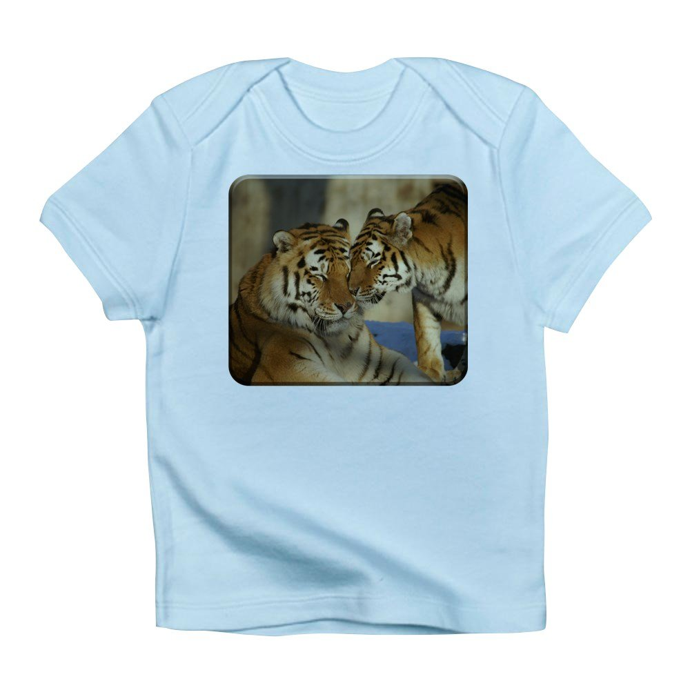12 To 18 Months Sky Blue Truly Teague Infant T-Shirt Nuzzling Tiger Love