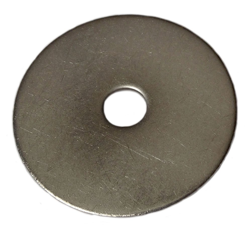 Type 18-8 Stainless Steel Fender Washers Size 1/4'' x 1'' (pack of 100pcs) Marine Bolt Supply