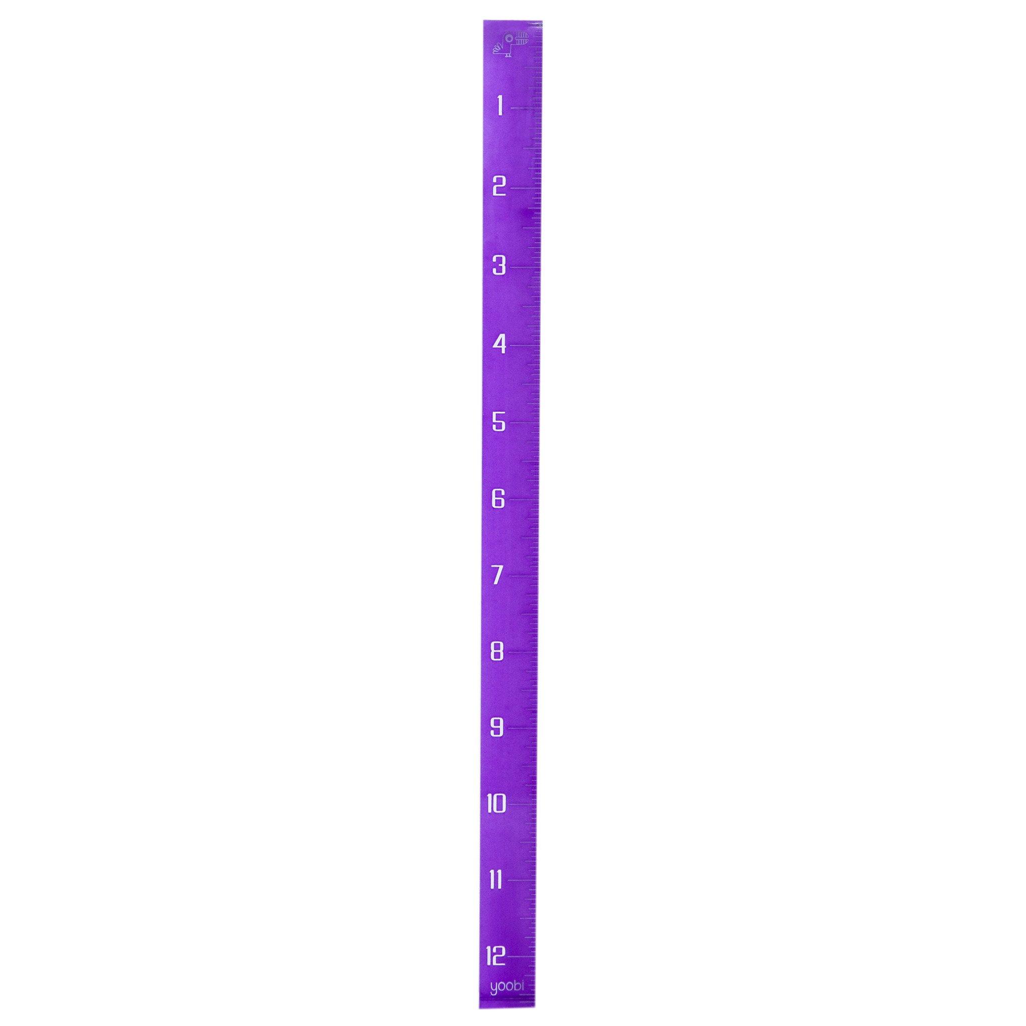 Yoobi Cubed Ruler - Purple