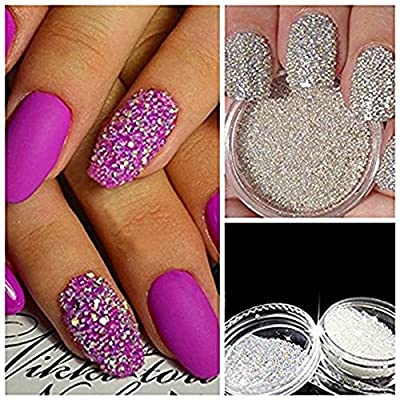 QIMYAR Nail Art Micro Rhinestone AB Crystal Glass Mini Beads Gardient Dazzling Caviar Beads 3D Nail Decoration 0.6mm