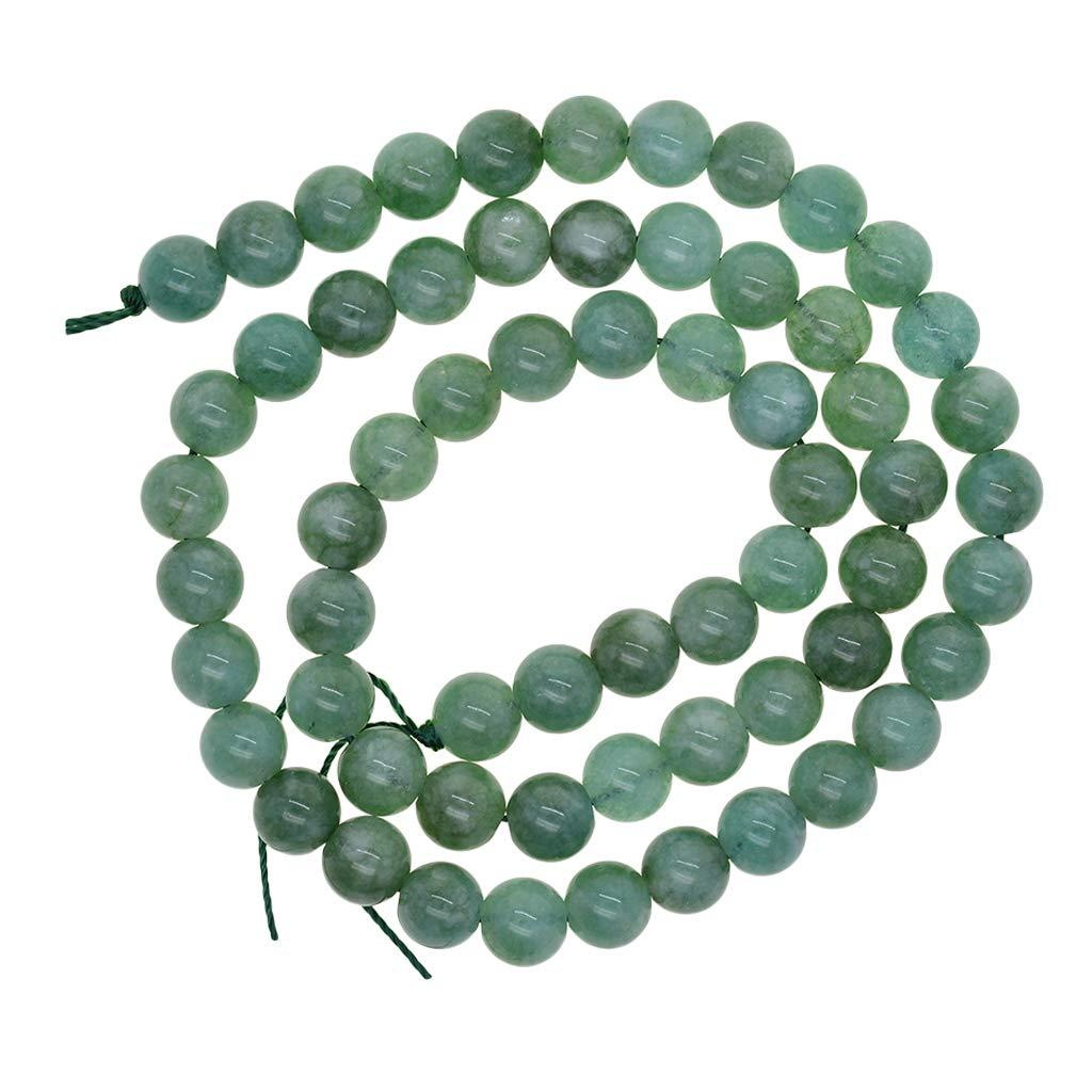 Cuentas Redondas Sueltas Jade Natural Malayo P Prettyia Piedra Natural 6mm