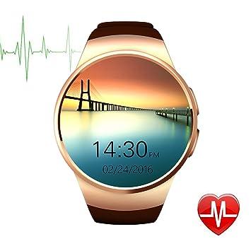 DongAshley Reloj Bluetooth Inteligente,Presiona Bluetooth Impermeable Baratos Relojes,Podómetro & Reproducción De Vídeo