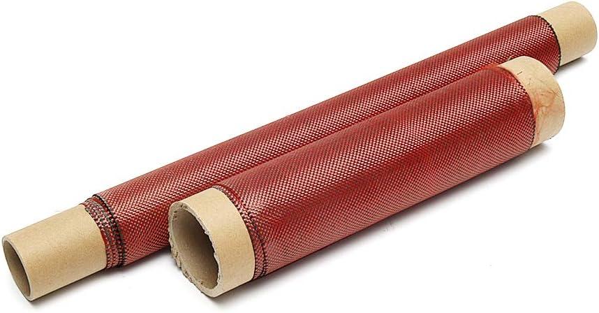 KUNSE 1m 3K 200g Tela De Tejido H/íbrido De Fibra De Carbono Rojo Tejido Liso Tela De Alta Resistencia para La Construcci/ón De Puentes De Construcci/ón De Reparaci/ón-30cm
