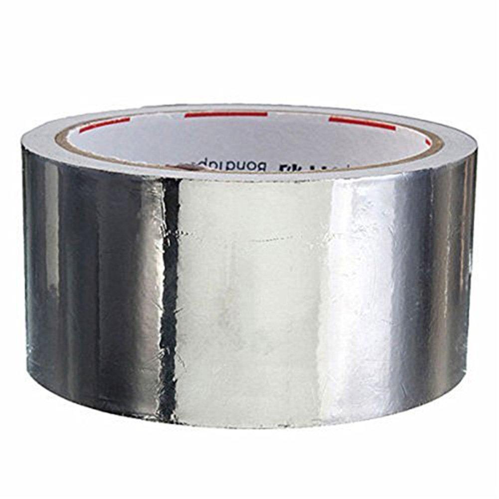Wuudi en feuille daluminium ruban adh/ésif en feuille daluminium d/étanch/éit/é ruban adh/ésif Isolation thermique lumineux Argent 20/m