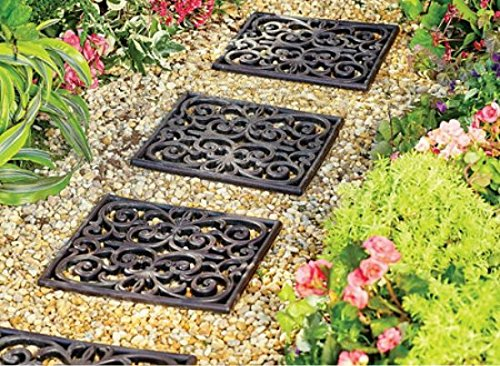 Garden Path Outdoor Pathway Trail Flowerbed Walkway Yard Decor (Set of 3) by KNL Store