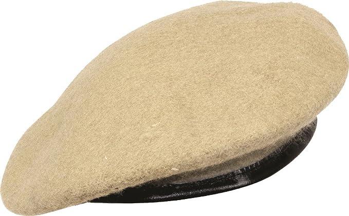 db8f839524896d Beret Cap Simple Head Wear Leather Trim Military 100% Wool Cap Green Black  Navy Maroon