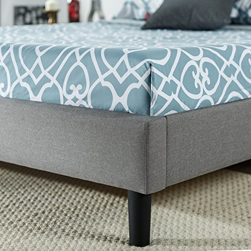 Zinus Kellen Upholstered Scalloped Button Tufted Platform Bed