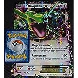 "XY Rayquaza EX XY66 JUMBO Oversized ""Mega Ascension"" Pokemon Card"