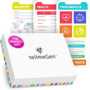 DNA Test Kit tellmeGen   390+ Reports   Health + Ethnicity (Ancestry Composition) + Genetic Carrier Status + Personal & Wellness Traits That Make You Unique   Genetic Testing Kit (DNA Test)