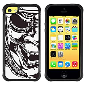 Jordan Colourful Shop@ Mask Japanese Samurai Theatre Art Rugged hybrid Protection Impact Case Cover For iphone 5C CASE Cover ,iphone 5C case,iphone5C cover ,Cases for iphone 5C