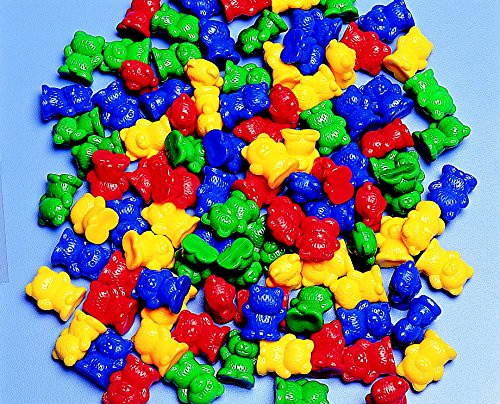 Childcraft Small Bear Counters - 3/4 inches - Set of 100 - Assorted (Bear Counters)
