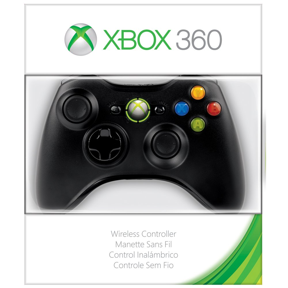 amazon com xbox 360 wireless controller glossy black microsoft