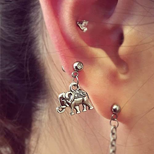 Amazon Com Elephant Dangle Cartilage Earring Helix Earring 20g