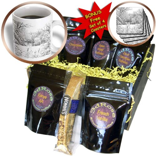 Perkins Designs Photography - Snow Storm fresh snow photographed at Huron River in Ann Arbor, Michigan - Coffee Gift Baskets - Coffee Gift Basket (cgb_19228_1)