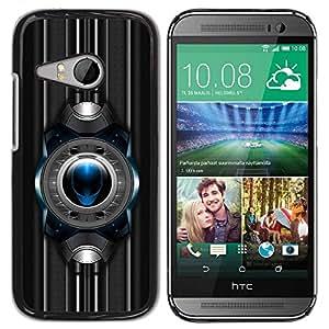 Carcasa Funda Prima Delgada SLIM Casa Case Bandera Cover Shell para HTC ONE MINI 2 / M8 MINI / Business Style Sci Fi Alien
