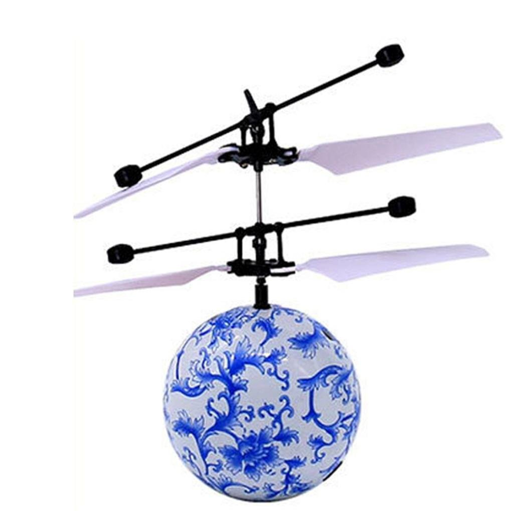 RC Fliegender Ball, Gusspower Infrarot Induktion Drone Hubschrauber Ball Eingebaute glänzende LED Beleuchtung für Kinder Spielzeug, Bunte Flying Toy für Teenager (A) Gusspower-707