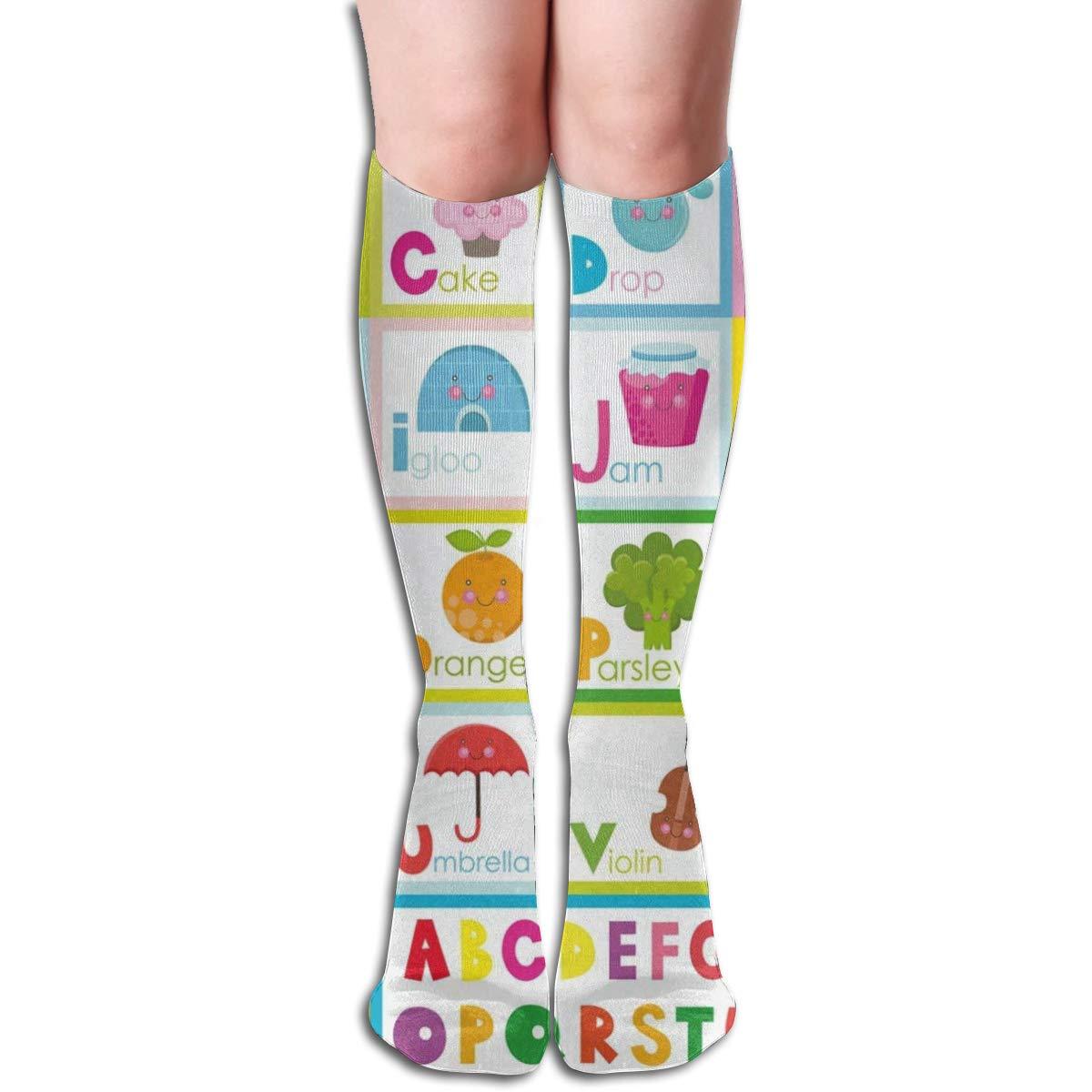 Custom Womens Knee Socks Funny Dinosaur Girls Long High Knee Stocking One Size Vintage