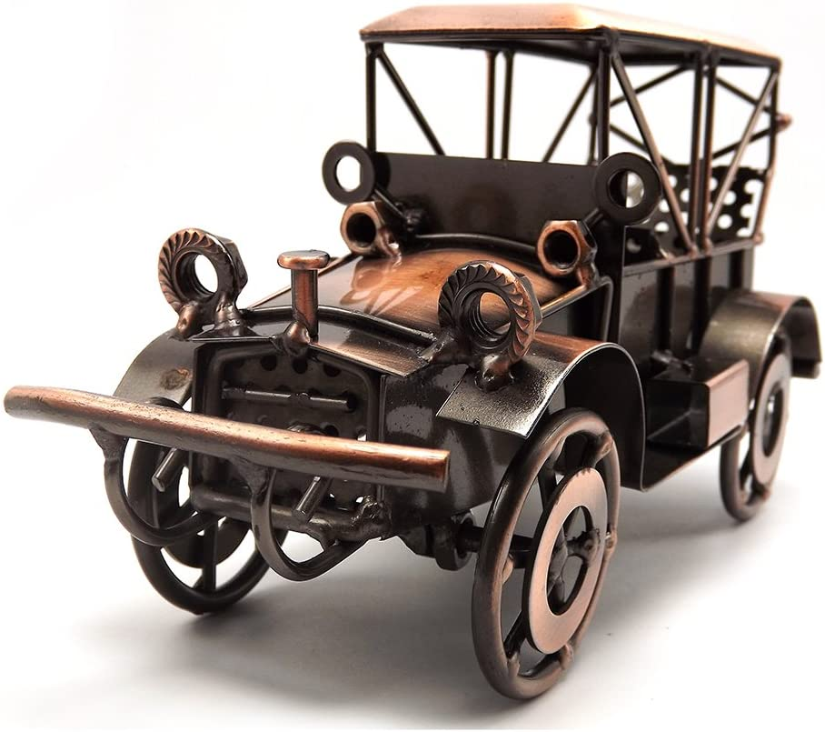 Amazon Com Tipmant Metal Antique Vintage Car Model Tin Home Decor Decoration Ornaments Handmade Handcrafted Collections Collectible Vehicle Toys Home Kitchen