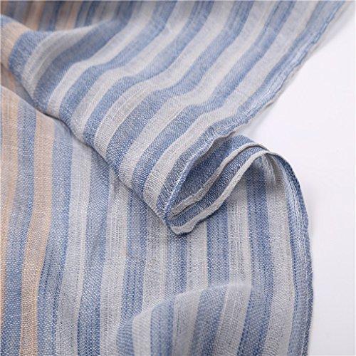 Frais Deux - Couleur Stripes Cotton Scarf Sunscreen Plage Grand Écharpe ( couleur : D )