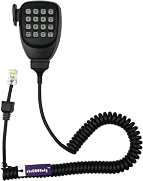 VtteQck TM271 Modular 8 Pin RJ45 Plug with DTMF Keypad Remote Speaker Mobile Microphone with PTT for Kenwood TK-768G//868G 7100//8100//8108 7360//8360 TM-271A//471A 281A//481A D710A