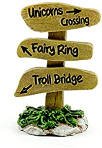"""Touch of Nature Unicorn, Fairy, Troll Sign 2.5inch, 2.5"""", 34 Piece"""