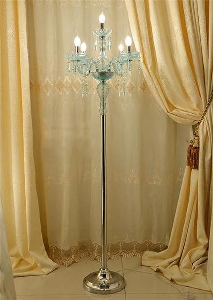 Uncle Sam Li Blue Crystal Floor Lamp Candle Floor Lamp Living Room