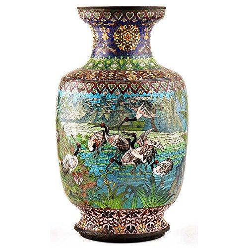 Indian Shelf Handmade Blue Cloisonne Vase (AMP-110A)