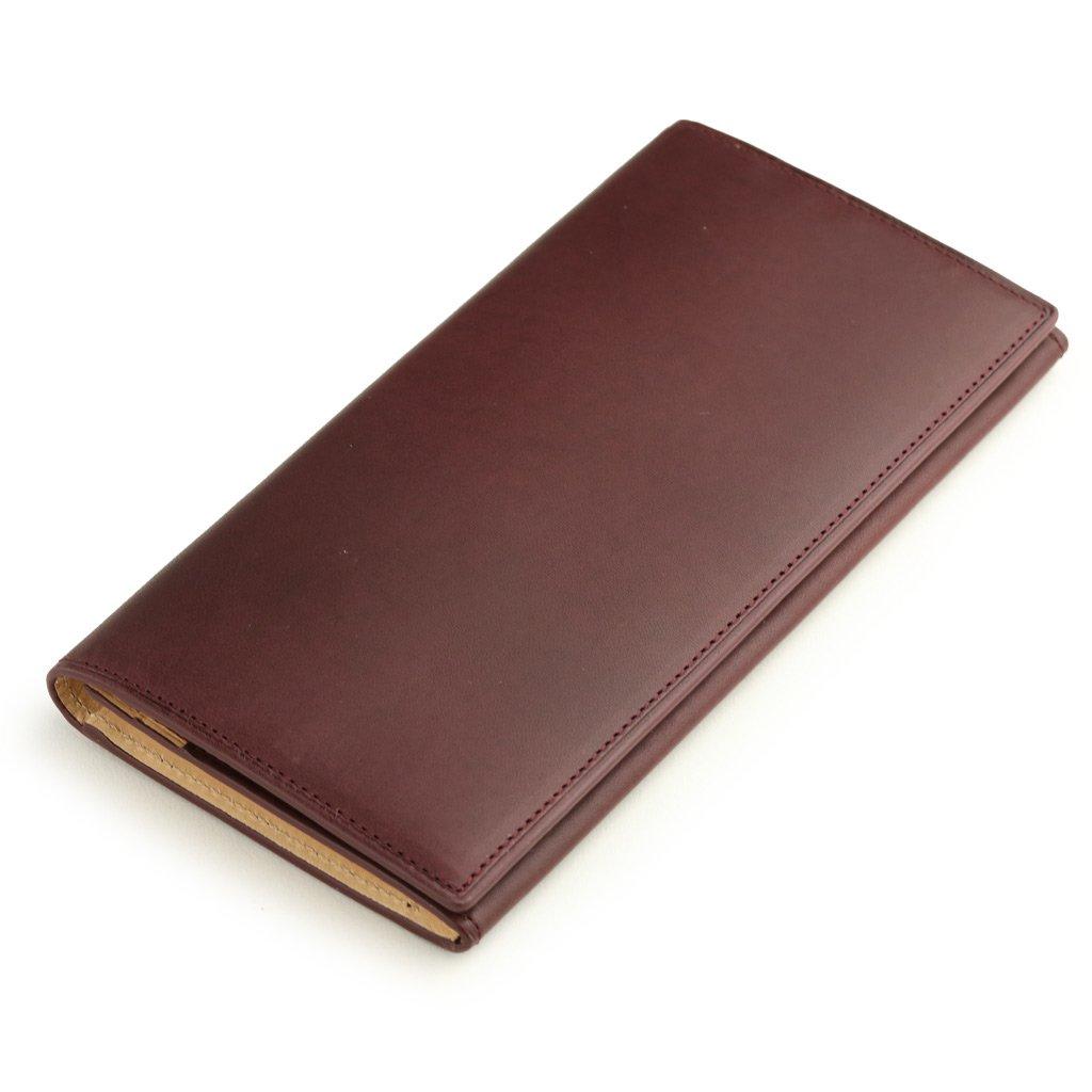 [アビエス] ABIES L.P. イタリアンレザー 植物タンニンなめし革 長財布(小銭入れつき) メンズ B075GL9R45 バーガンディ バーガンディ -