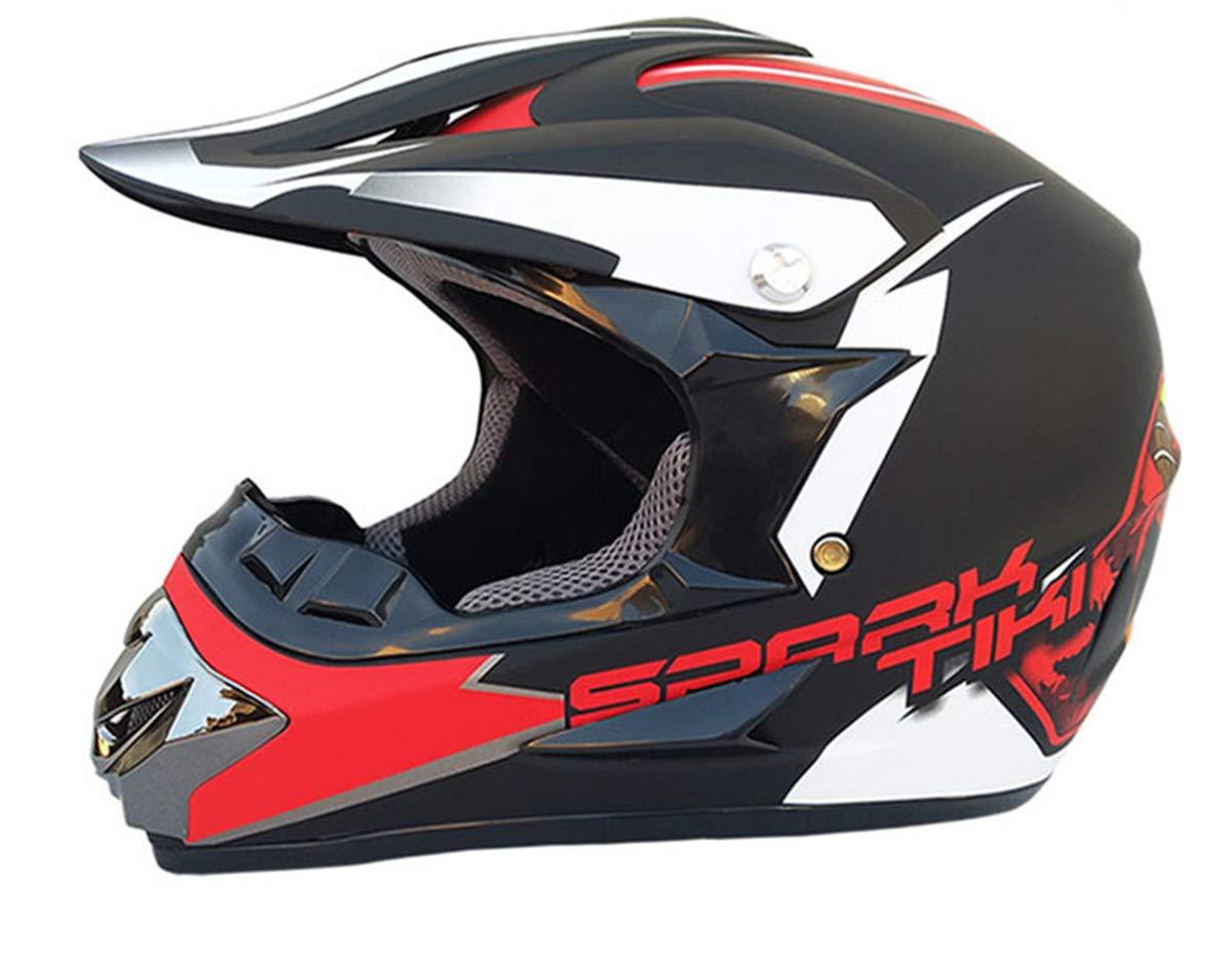 L&U ABS-Material Motorrad Rennrad   Offroad-Helm, stylische, kostenlose Brille, Handschuhe, Maske