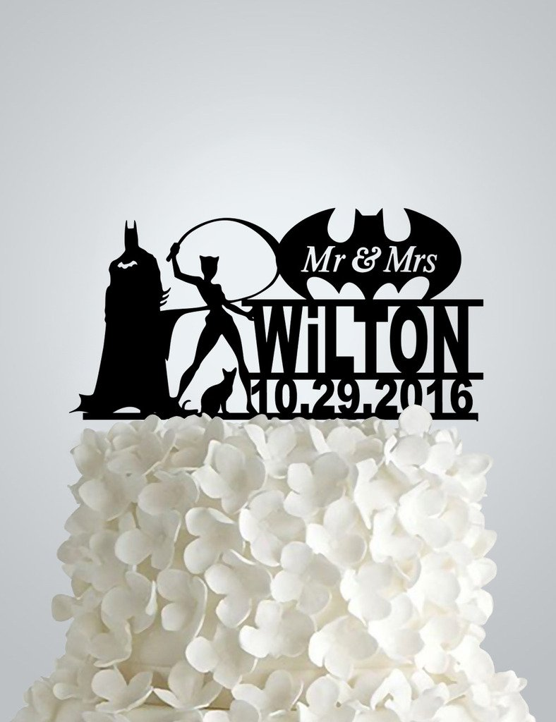 Acrylic Wedding cake Topper - Batman and Catwoman
