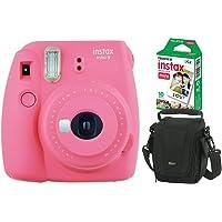 Câmera instantânea Fujifilm Instax Mini 9 Rosa Flamingo, Pack 10 fotos, Bolsa, Fujifilm, INSTAXKIT22F, Rosa Flamingo