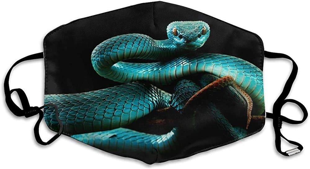 Máscaras bucales Máscara de Bucle Lavable Reutilizable de Serpiente Azul, Cubierta Facial para alergias solares al Aire Libre